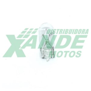 LAMPADA PAINEL ESMAGADA 12V 5W  CRISTAL EMBUS