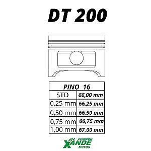 PISTAO KIT DT 200  AUDAX 0,75
