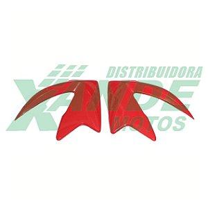 ENTRADA DE AR NXR BROS 125 VERMELHO 2014 (PAR) PARAMOTOS
