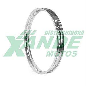 ARO RODA ACO 1.85 X 21 DIANT XL 125 / DT 180 / NX 400 / XR 250 (CROMADO) ARONIP