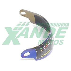 VISEIRA CAPACETE PRO TORK EVOLUTION 788 G3 G4 G5 G6 IRIDIUM 2MM PRO TORK