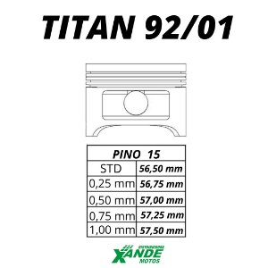 PISTAO KIT TITAN 125 1992-2001 WGK 4,00