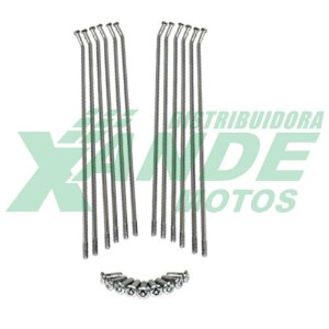 RAIO DIANT XRE 300 4MM CROMADO TRILHA