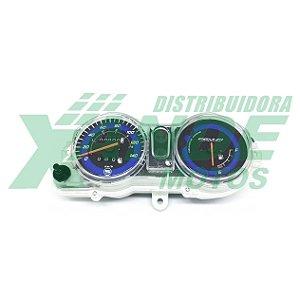 PAINEL COMPLETO TITAN 150 09-10 ESD (GASOLINA FUNDO AZUL C/ ODOMETRO) SMART FOX