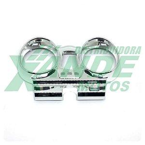 CARCACA PAINEL SUP CBX 250 TWISTER (CROMADA) PLASMOTO