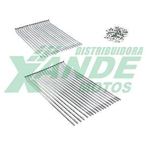 RAIO TRAS NXR BROS 125-150-160 4MM CROMADO VELTH