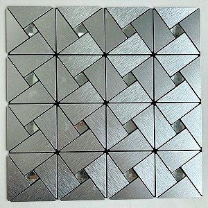 EPLAL1006 - Pastilha Adesiva Triangulo Brilho Inox - Peça
