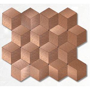 EPLAL703 - Pastilha Adesiva Hexagone G Rose - Peça