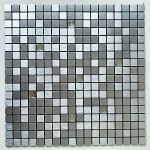 EPLAL1008 - Pastilha Adesiva Quadrado Brilho Inox - Peça