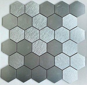 EPLAL1015- Pastilha Adesiva Hexagone M Inox - Peça