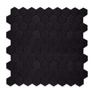 EPLAL1013 Pastilha Adesiva hexagone P Preta - Peça