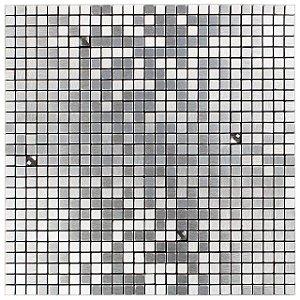 EPLAL800 - Pastilha Adesiva Quadrado P Brilho Inox - Peça