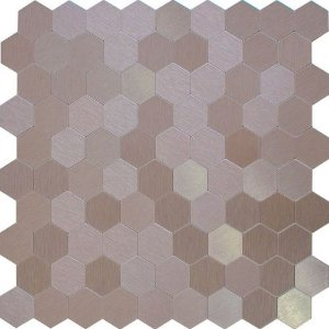 EPL88 - Pastilha Adesiva Inox Hexagone Rose   -    Peça