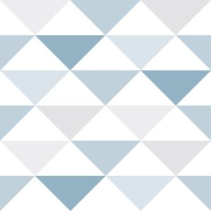 Papel de Parede Triangulo  Azul - Brincar