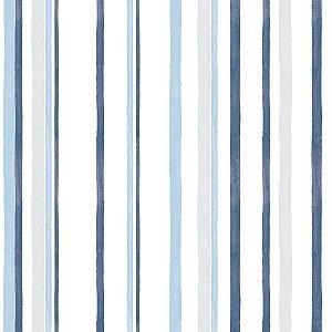 Papel de Parede Listra Azul Brincar