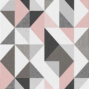 Papel de Parede Geométrico Rosa Contemporâneo