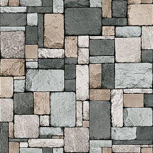 Papel de Parede Pedra Cinza - Contemporaneo