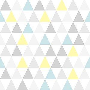 Papel de Parede Triangulo Azul e Amarelo - Kids Teens