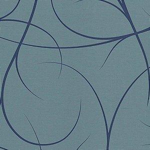 Papel de Parede Ramo Azul fundo Azul - PE