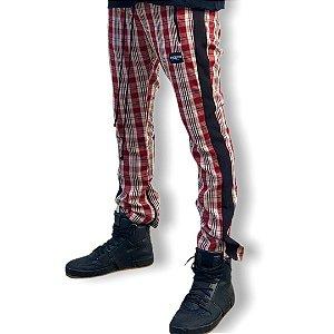 Calça Track Pant Xadrez Vermelha/Preta