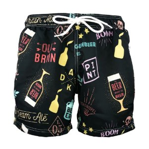 Short Masculino Estampado Beer