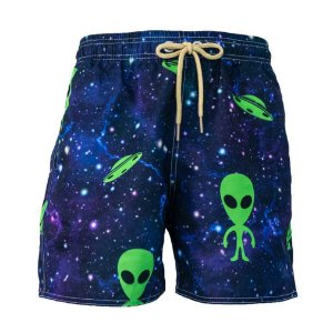 Short Masculino Estampado Alien