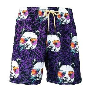 Short Masculino Estampado Panda