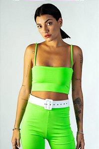 Top Feminino de Alça Verde Neon