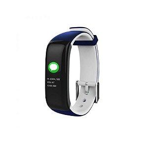 Relógio Inteligente X10 Plus - Azul e Branco