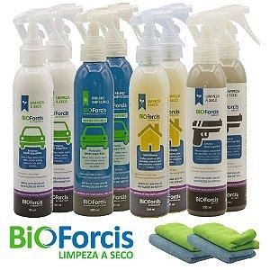 Kit Profissional 2x (Auto, Brilho , Casa, Bélico 200) e 4 Microfibras