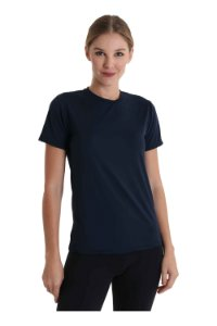Camiseta Antiviral Feminina Manga Curta UV+50 - Amni Virus Bac Off Rhodia