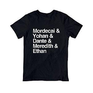 Camiseta T-Shirt Masculina - Nomes Personagens