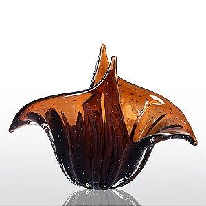 Vaso de Decoração em Murano - Wings - Marrom - G