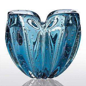 Cachepot de Decoração em Murano - Luck - Aquamarine - M