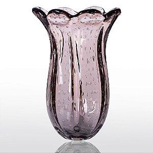 Vaso de Decoração em Murano - Vintage Rosê- Apolo