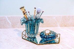 Kit Murano - Vaso Firenze + Cachepot Téo - Aquamarine