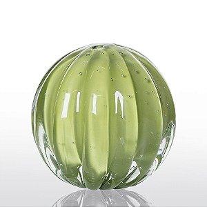 Bola de Decoração em Murano - Verde Avocado - Dear - Tam P