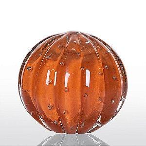 Bola de Decoração em Murano - Laranja Tangerine- Dear - Tam M