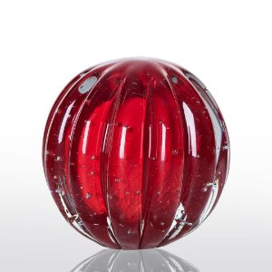 Bola de Decoração em Murano - Vermelho Intenso - Dear - Tam G