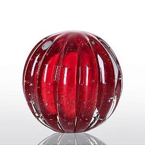Bola de Decoração em Murano - Vermelho Intenso - Dear - Tam P
