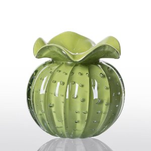 Vaso de Decoração em Murano - Trouxinha Love - Verde Avocado - Tam P