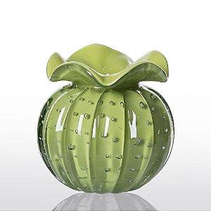Vaso de Decoração em Murano - Trouxinha Love - Verde Avocado - Tam PP