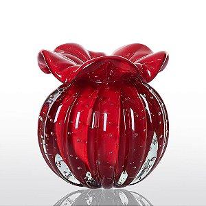 Vaso de Decoração em Murano - Trouxinha Love - Vermelho Intenso - Tam PP