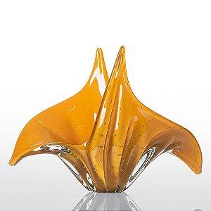 Vaso de Decoração em Murano - Wings - Amarelo - G