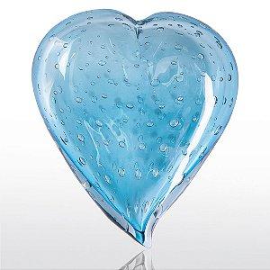 Coração de decoração em Murano Aquamarine