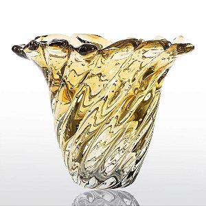 Vaso de Decoração em Murano - Ambar - Provença - Tam. M