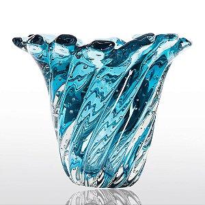 Vaso de Decoração em Murano - Aquamarine - Provença - Tam. M