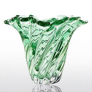 Vaso de Decoração em Murano - Verde Esmeralda - Provença - Tam. M