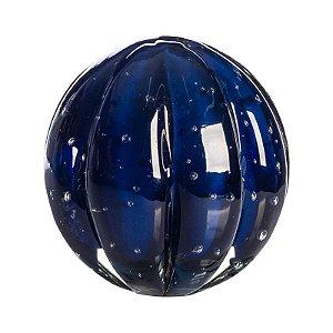 Bola de Decoração em Murano - Azul Escuro - Dear - Tam G