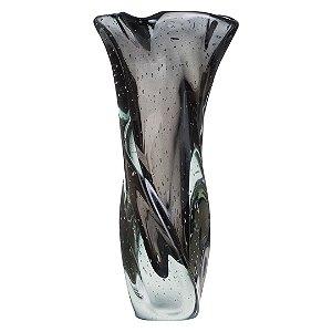 Vaso de Decoração em Murano - Grafite - Twist - Tam P
